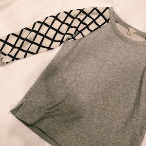 J. Crew Sweater with Lattice Sleeves